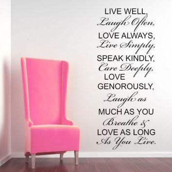Live Well Laugh Often